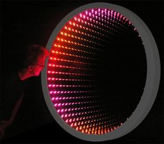 Color Changing Infinity Mirror - really Edward Snowden looking for a way home.