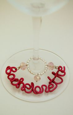 Bachelorette Party Wine Charms.