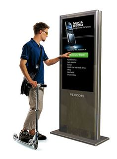 location based touch screen