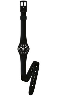 SWATCH LADY BLACK #swatch #watch. I have purple and white but loooove BLACK!