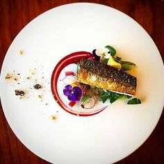 Mackerel & Beetroot. ✅ By - @cheftommackins ✅ #ChefsOfInstagram