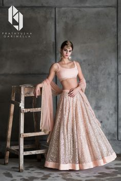 The Winter Festive Look Book 2016 for Indian designer Prathyusha Garimella. The label is being currently retailed at Perniaspopupshop, Aza, Ogaan, Aashni & co and many other multi-brand stores.Model: Zanet Heldes (Fashion World)Production: Allen Joseph… Net Lehenga, Lehenga Choli Online, Bridal Lehenga, Anarkali, Ghagra Choli, Pink Lehenga, Indian Wedding Outfits, Indian Outfits, Indian Clothes