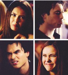 The Vampire Diaries Delena face