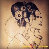hình xăm geisha 44