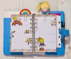 Rainbow Brite planner pages!  I squeed.