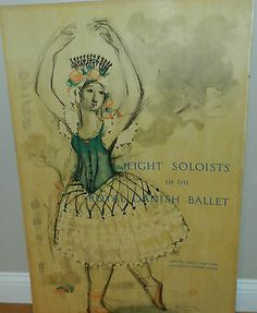 RARE BJORN WIINBLAD POSTER EIGHT SOLOISTS OF THE ROYAL DANISH BALLET DATED 1957