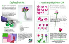 Sweetpea tutorial link takes you to AIM magazine 59 Types Of Flowers, Diy Flowers, Fabric Flowers, Paper Flowers, Miniature Plants, Miniature Dolls, Miniature Tutorials, Miniature Gardens, Minis