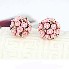 Ceramic flowers small earrings exquisite earrings di ShiningBead