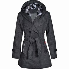 Woolen Trench Winter Coat. I need a new winter coat badly... better get one soon before winter is over!