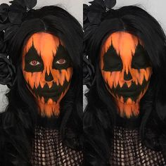 Here's a closer look of yesterday's pumpkin look 🎃. I also wanted to mention that these looks take hours to do. This was my first time attempting many of the Halloween looks I've done so far so try motto get frustrating if it doesn't work out the first time. Just keep at it and be patient. Look was inspired by the lovely @katiealves. 🎃⚰🎃 ____________________________________________________ SWEATER: @disturbia, FACE: @kryolanofficial Aqua colours, @limecrimemakeup ...