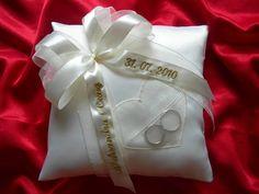 Personnalisé anneau bague de mariage coussin/oreiller avec cœur /59 couleurs/