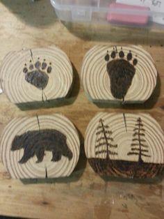 Wood burning bears