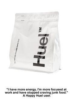 Huel is powdered food - all your body needs with no waste. It's fast food, not junk food - could be time to upgrade your lunch!
