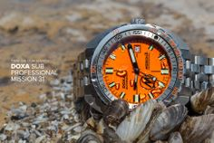 This DOXA SUB Professional Mission 31 Gear Patrol is a better for your dinner made with awesome ingredients! Cool Watches, Watches For Men, Men's Watches, Jacques Yves Cousteau, Seiko Mod, Most Popular Watches, Watch Blog, Omega Watch, Gears