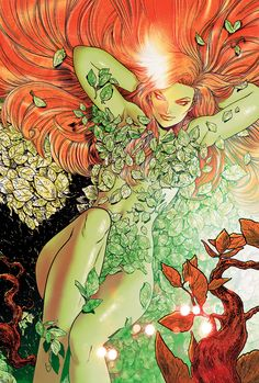 Poison Ivy - A botanical biochemist, Pamela Isley is a fervent eco-terrorist out to save the world's plant life by any means necessary. She often has found herself at odds against Batman, though they have fought on the same side on occasion. Poison Ivy Batman, Dc Poison Ivy, Poison Ivy Dc Comics, Comic Book Artists, Comic Book Characters, Comic Character, Comic Books Art, Comic Art, Female Characters