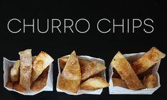 The Easiest Churro Chips Ever! Yum! howdoesshe.com #churros #easysnacks #yummysnacks