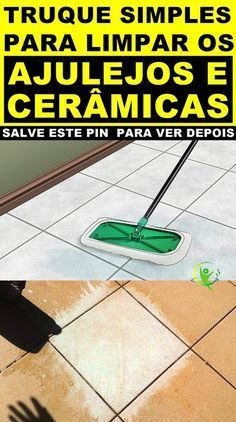 Truque Simples Para Limpar Azulejos e Cerâmicas do Banheiro! Natural Cleaning Products, Home Hacks, Clean House, Cleaning Hacks, How To Remove, Home Appliances, Cool Stuff, Tips, Perfume