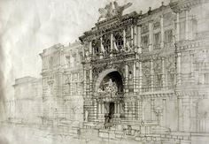 Architectural drawings by Maja Wrońska