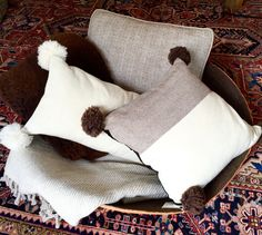 Throws, Sheepskins, Pillows in all natural colors.