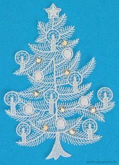 Vintage Swiss Christmas Tree Embroidery from Rosa Oquendo's Pinterest Page....