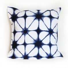 With the Indigo Tie Dye Euro Sham, you can take your bed from pretty, to pretty fabulous.