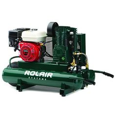 Rolair 6590HK18 ROLAIR 6.5-HP 9-Gallon Wheelbarrow Air Compressor w/ Honda Engine at Air Compressors Direct includes free shipping, a factory-direct discount and a tax-free guarantee.