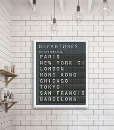 Love this || Travel Art Print New York City Art Subway by CocoAndJamesHome