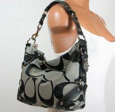 Coach Signature Carly Sac Shoulder Hobo Handbag $275