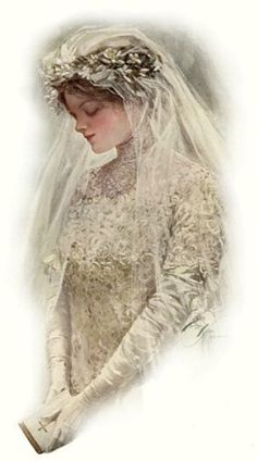 """""""The Bride"""" by Harrison Fisher"""