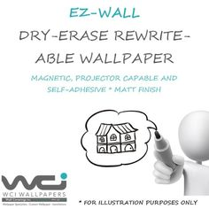 EZ Office EZ-Wall mrwt-ns50-pap Normal Wallpaper, Home Wallpaper, Dry Erase Wall, Adhesive Wallpaper, It Is Finished, Place Card Holders, Wallpapers, Wallpaper For Home, Wall Papers