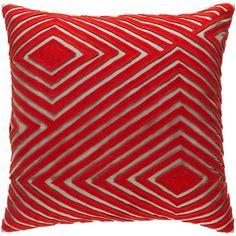 """Brayden Studio Rieder Cotton Pillow Cover Size: 20"""" H x 20"""" W x 0.25"""" D, Color: Gray"""