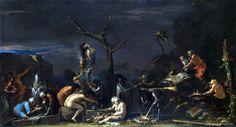 Witches at their incantation - Salvator Rosa. http://www.bbc.co.uk/arts/yourpaintings/artists/salvator-rosa