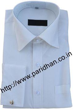 Stylish cream cotton shirt made in cotton fabric.