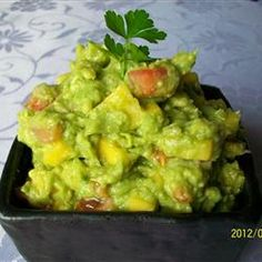 Get Mango Guacamole Recipe from Food Network Mexican Food Recipes, Vegetarian Recipes, Cooking Recipes, Healthy Recipes, Ethnic Recipes, Spanish Recipes, Yummy Recipes, Mango Guacamole, Holy Guacamole