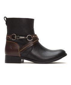 eefa6334f6c6 Frye Black Molly Hook Short Leather Boot