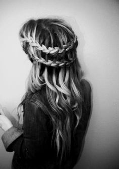 Double Waterfall French Braid--can't wait for the faire season!