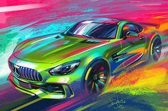 Mercedes sketch, Aleksandr Sidelnikov