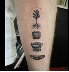 Disconnected plant tattoo by Ben Lopez