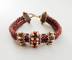 Bracelet beading pattern beadweaving tutorial by PeyoteBeadArt