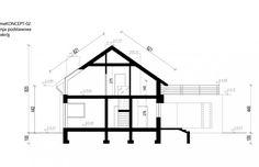Projekt domu z poddaszem HomeKoncept 2 - przekrój 1