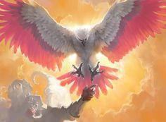 Dawnfeather Eagle MtG Art by Sidharth Chaturvedi