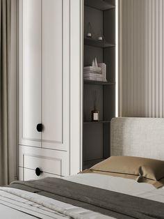 Park Avenue on Behance Closet Design, Bedroom Interior, Bedroom Design, Luxurious Bedrooms, Brown Bedroom, Bedroom Closet Design, Apartment Interior Design, Modern Classic Interior, Apartment Interior