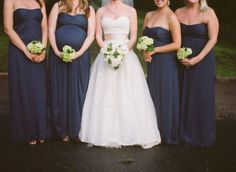 Love the pregnant belly and love the different color sash!