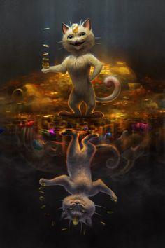 tamberella: Third in my Mirrored Pokemon series! Alolan Meowth... - http://pokemon.abafu.net/pokemon/tamberellathird-in-my-mirrored-pokemon-series-alolan-meowth