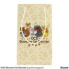 OCD Obsessive Cat Disorder Small Gift Bag