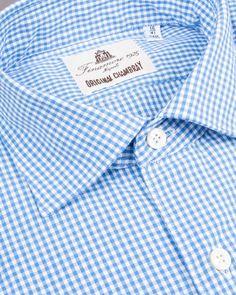 Original chambray checked shirt by Finamore | Dantendorfer online shop