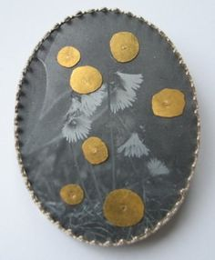 Bettina Speckner Schmuck Jewellery Brooch 2005 Photoetching/Zinc; Silver; Fine Gold; Gold 750/000