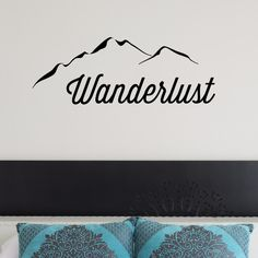 Wanderlust Matte Vinyl Wall Decal. Wall decals are growing in popularity. They are the perfect way to add a unique look to any room in very little time. Once applied, decals give a painted look. They