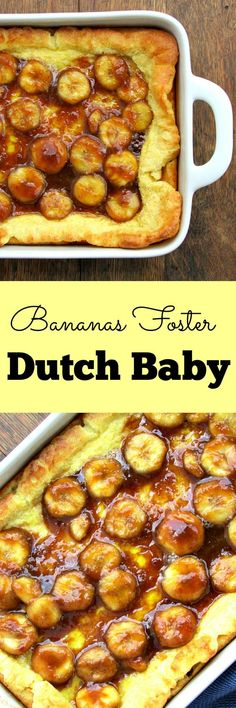 Bananas Foster Dutch Baby | Lou Lou Biscuit