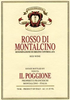 Rosso di Montalcino Il Poggione 2012 (91AG) (750ML)